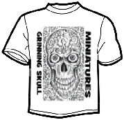 T Shirt preview for Grinning skull