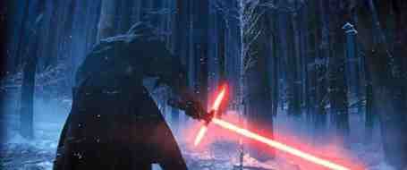 Kylo Ren and his controversial lightsaber.