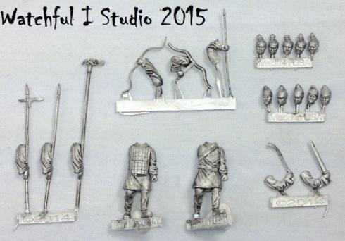 Metal castings light infantry