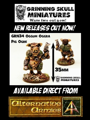 Get Your Grinning Skull Miniatures from Alternative Armies now!