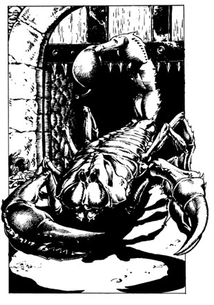 The Giant Scorpion from the Fighting Fantasy Gamebook, Deathtrap Dungeon