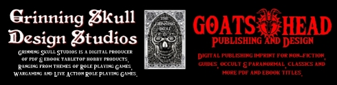 grin skull goatshead logo